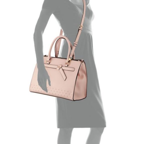 Neiman Marcus Handbags - ❌SOLD❌NWOT Neiman Marcus Knotted Saffiano Satchel